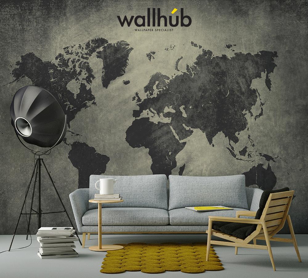 World Map Mural Wallhub