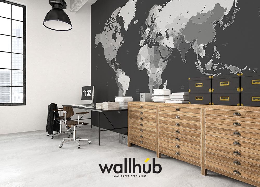 ... Mural Wallpaper World Map 00 2 ...