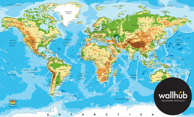 28 world map mural giant classic world map mural by maps for Environmental graphics giant world map wall mural