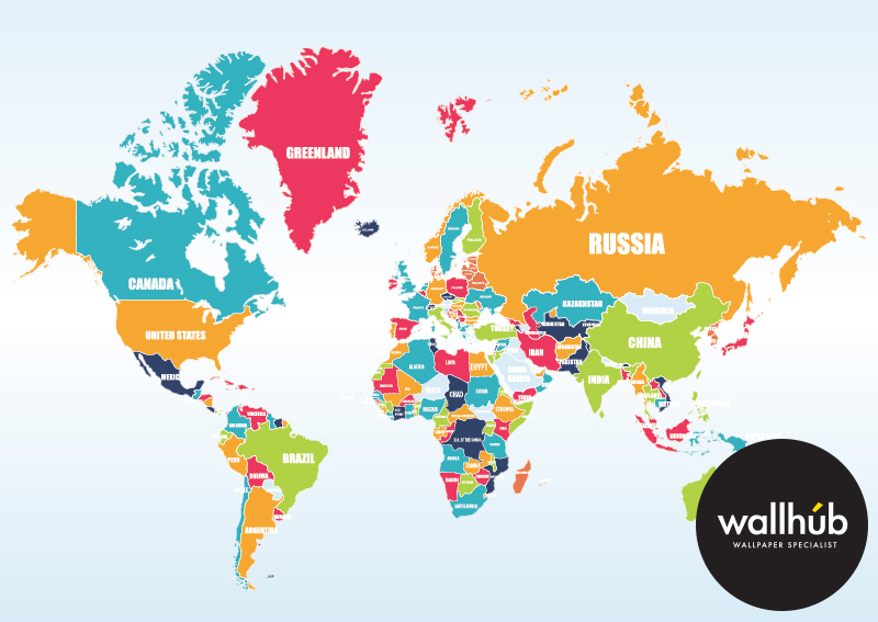 World Map Mural - Wallhub