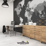 Mural World Map #2140