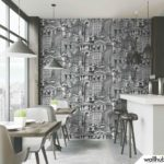 Wallhub Indigo - Architecture Motif Wallpaper 00