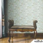 Wallhub Indigo - Classic Paisley Wallpaper 01