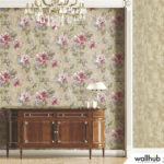 Wallhub Indigo - Gracious Floral Wallpaper 01
