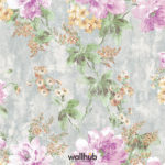 Wallhub Indigo - Gracious Floral Wallpaper 02