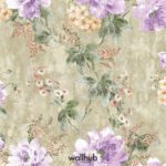 Wallhub Indigo - Gracious Floral Wallpaper 03