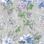 Wallhub Indigo - Gracious Floral Wallpaper 04