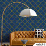 Wallhub Indigo - Oriental Ornament Wallpaper 05