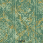Wallhub Indigo - Panel Leaves Ornament Wallpaper 03