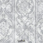 Wallhub Indigo - Panel Leaves Ornament Wallpaper 06