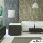 Wallhub Indigo - Textured Abstract Wallpaper 00