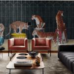 Londonart Italian Wallpaper   Tigers 19004-02
