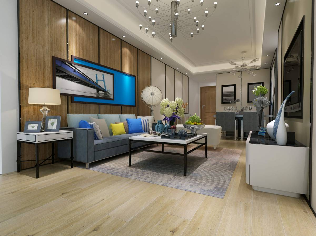 Luxury Vinyl Flooring & Living Room